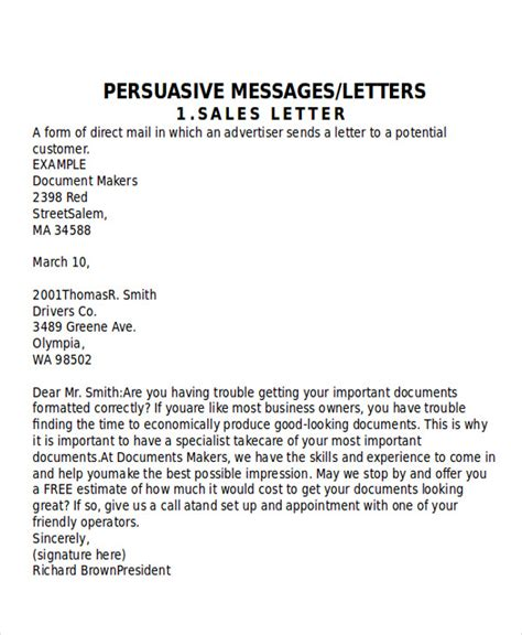 Letter To Company Sle Sle Persuasive Business Letter 7 Exles In Word Pdf