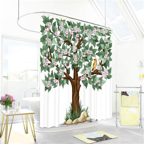 green and white patterned curtains green and white tree patterned beautiful shower curtains