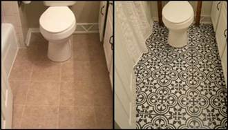 Bathroom Stencil Ideas Give Your Bathroom A New Look By Chalk Painting Floor