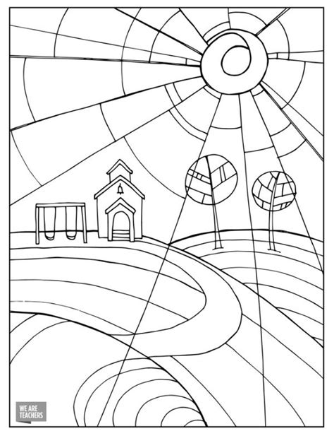 hard coloring pages for teachers 8 free adult coloring pages for stressed out teachers