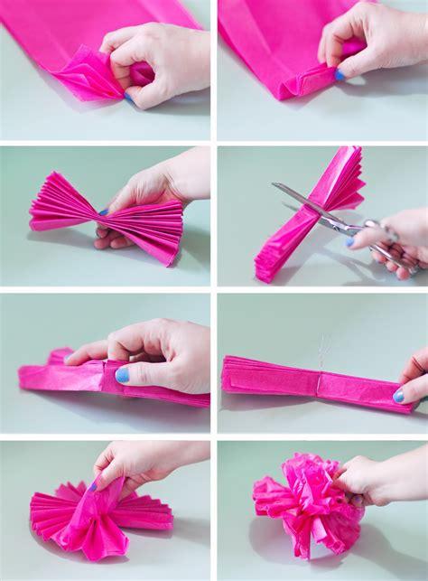 cara membuat bunga dari kertas segi empat make it cara membuat bunga pompom dari kertas hello