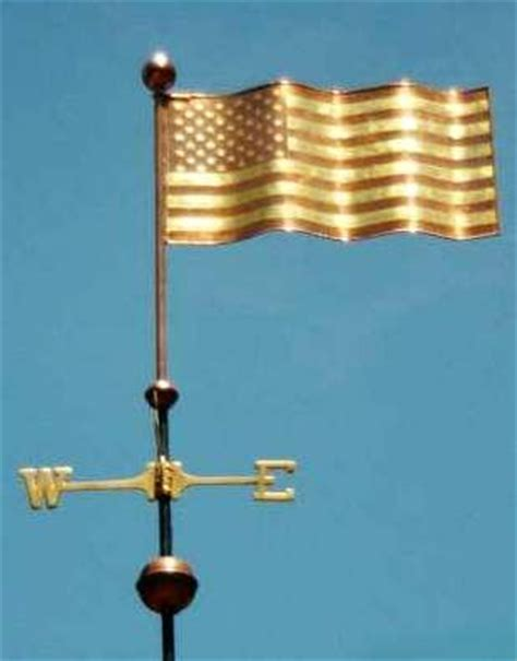 american banner weathervane west coast copper and leaves on pinterest