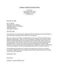 Resume Cover Letter Examples For Nurses resume cover letter examples for nurses resume cover letter examples