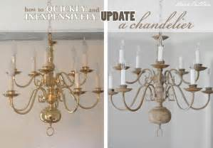 Painting A Chandelier Dear Lillie A Chandelier With Chalk Paint