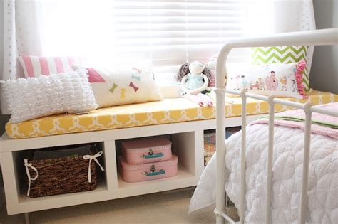 ikea hack bench bookshelf ikea bench transitional girl s room general paint dishwater daffodil design