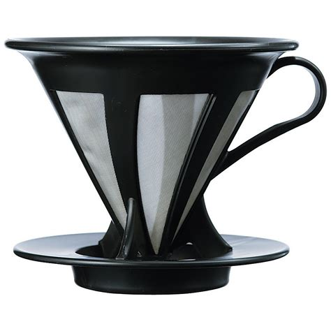 Hario Cafeor Dripper 02 Black Cfod 02b Diskon galleon hario cafeor stainless steel coffee dripper