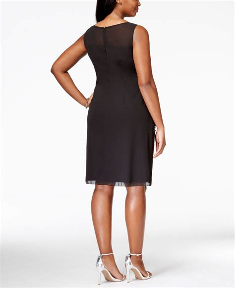 plus size beaded cocktail dresses lyst papell plus size sleeveless beaded
