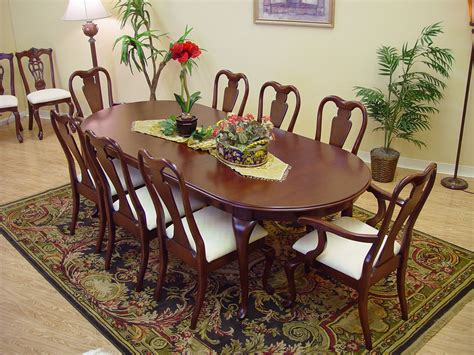 queen anne dining room sets 9 piece classic queen anne mahogany dining table and chair