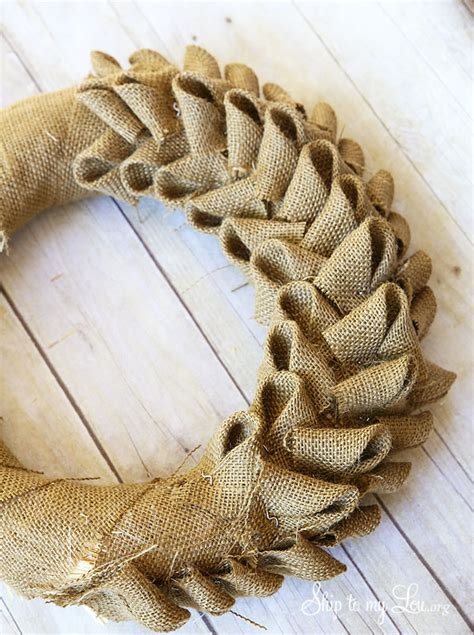 how to make a wreath with burlap burlap wreath tutorial skip to my lou
