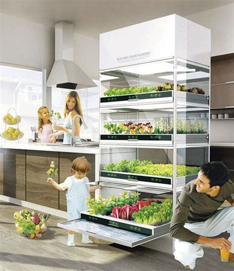 sleek hydroponic unit lets you grow a garden in your