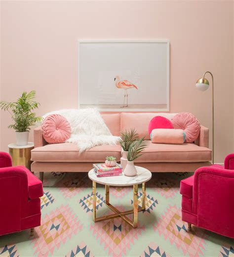 pink living rooms oh joy a pretty in pink living room oh joy
