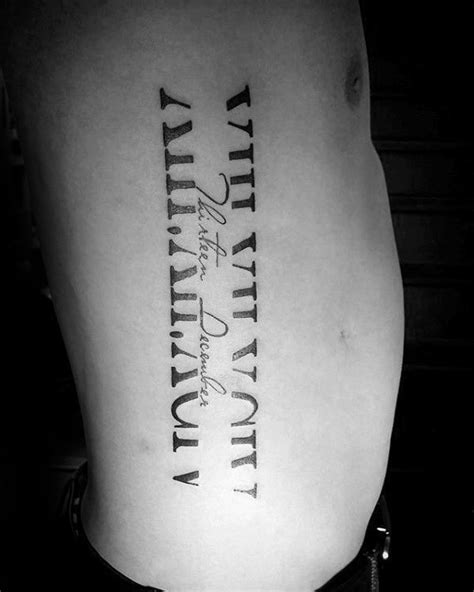 roman numeral tattoo on ribs best 25 numeral tattoos ideas on