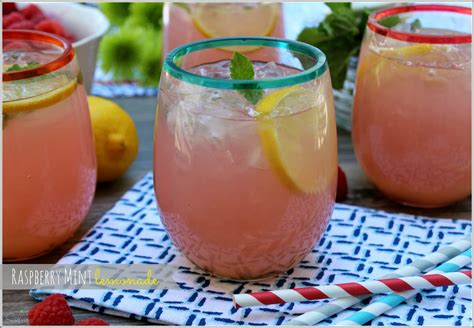 raspberry mint lemonade girls night in a dash of sanity