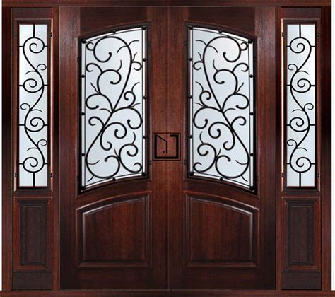 Two Front Doors Prehung Custom Door With Two Sidelights Bellagio Style Traditional Front Doors