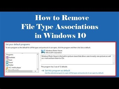 How to Remove File Type Associations in Windows 10 - YouTube File Type Associations In Windows 10