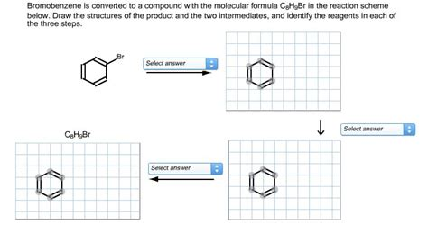 draw scheme solved bromobenzene is converted to a compound with the m