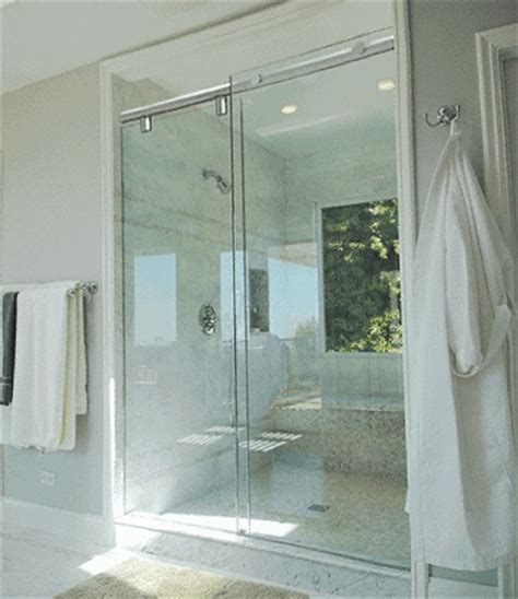 Showers With Sliding Doors Sliding Glass Shower Doors Bathroom Shower Designs