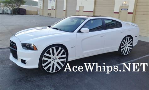 ace  white  dodge charger rt  concave  forgiatos