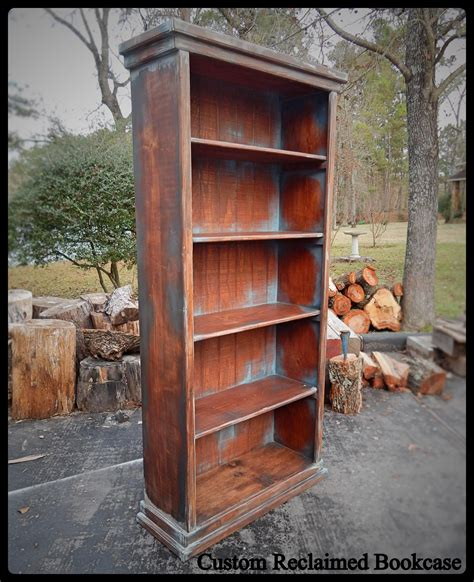custom wood bookshelves crafted custom reclaimed wood bookcase by project salvation custommade