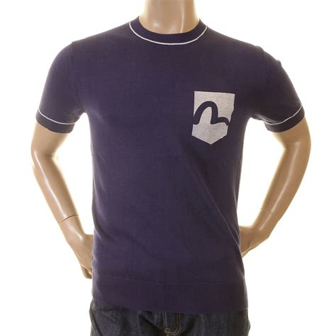 Evisu Original buy pocket logo crew neck t shirt by evisu at togged