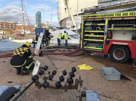motor boats for sale gosport two rescued after motor boat fire in the solent ybw