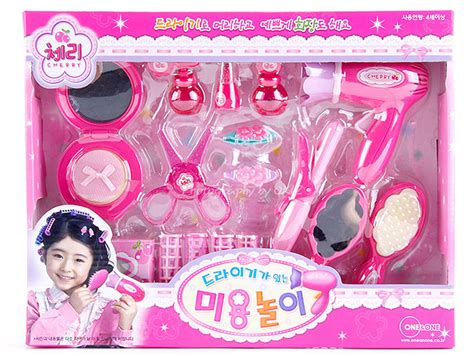 Hair Dryer Figures play salon hair makeup dryer mirror etc set