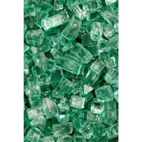 Fireplace Glass Rocks Home Depot by Firecrystals 50 Lbs Emerald Glass Value Pak 10085
