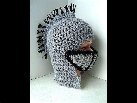 crochet pattern knight helmet free diy knight s helmet hat free crochet tutorial king arthur