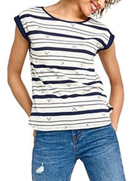 Bird Frill Striped Top Size S oasis s clothing oasis clothes uk