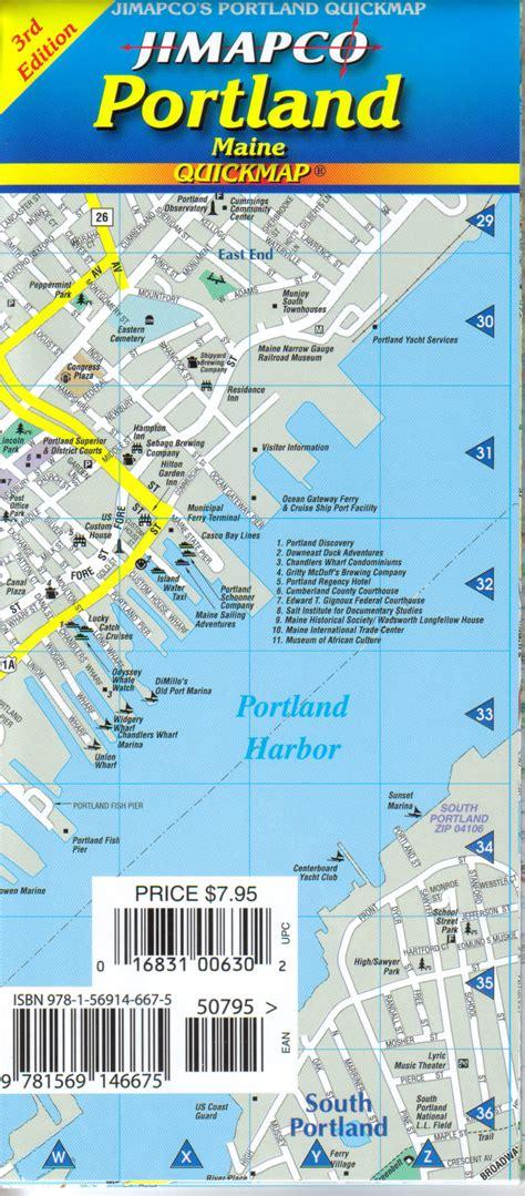 portland state map portland quickmap 171 jimapco