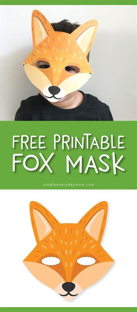 printable mask of a fox 8816 best art for kids images on pinterest children diy