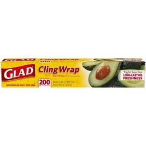 plastic wrap glad clingwrap plastic wrap 200 square foot roll