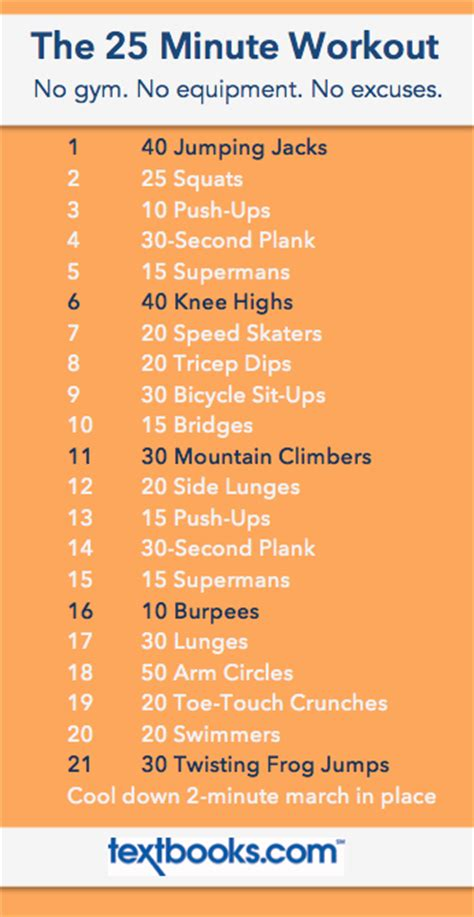 the 25 minute room workout