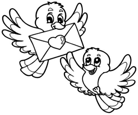 coloring pictures of lovebirds two birds deliver love letter coloring pages batch coloring