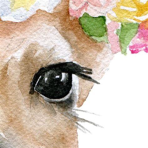 watercolor deer tutorial deer fawn with flowers watercolor