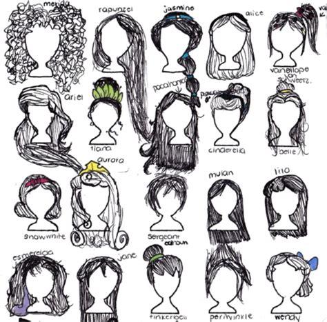 disney hairstyles drawing disney princess drawing hair art hannah s pinterest