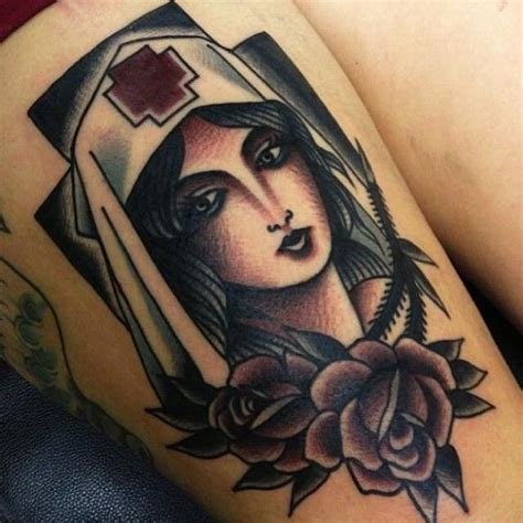 tattoo flash nurse old school nurse tattoo google search tattoo ideas