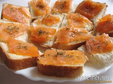 canape au saumon canap 233 s au saumon une faim