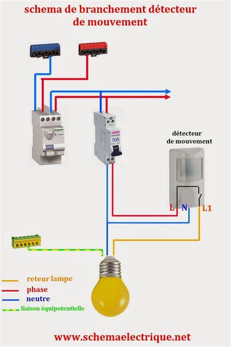 Le Led Detecteur De Mouvement 3712 by Schema Electrique Branchement Cablage