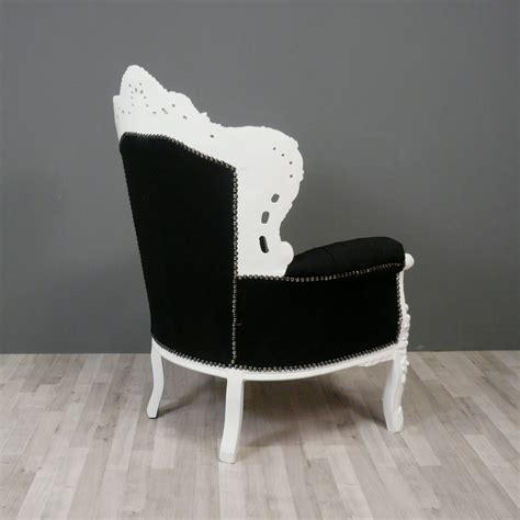 Black White Armchair Black And White Baroque Armchair Chairs