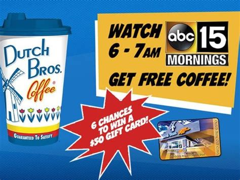 Dutch Brothers Gift Card - abc15 arizona just in