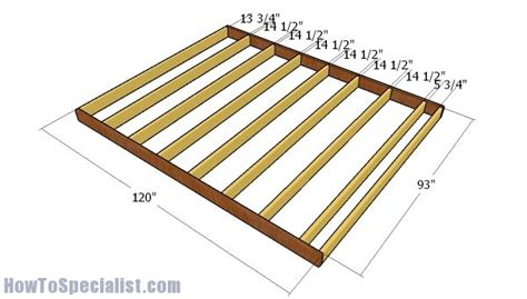 10 X 8 Wood Floor Shed Plans - 8x10 shed plans howtospecialist how to build step by