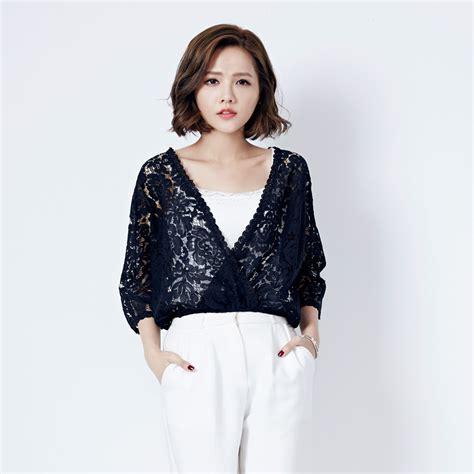 Blouse Korea Jerapa mayuki womens lace wrapover blouse japanese korean fashion ebay