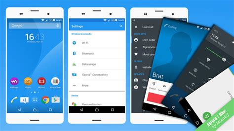 xperia themes material design install xperia aurora blue green material design themes