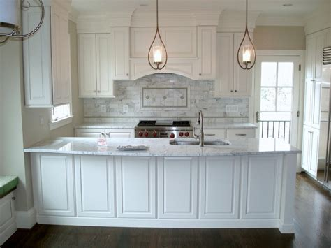 White Raised Panel Kitchen Cabinets by Arlington Remodel White Raised Panel Overlay