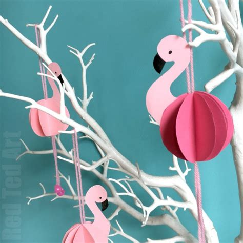 How To Make A Flamingo Out Of Paper - easy paper flamingo decor diy summer room decor