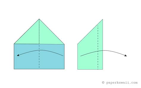 Origami Airplane Easy - easy origami paper plane diagram