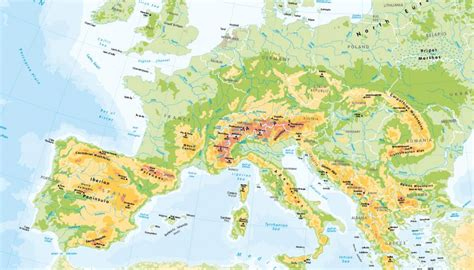 physical map europe children s physical map of europe 163 14 99 cosmographics ltd