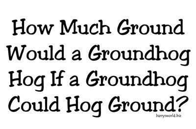 groundhog day how much time groundhog day barry s world