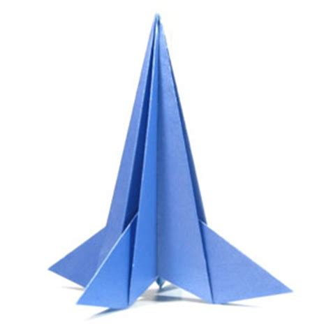 Origami Rocket - how to make a 3d origami rocket page 12